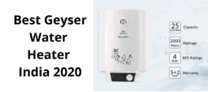 Read more about the article Best Geyser Water Heater India 2020